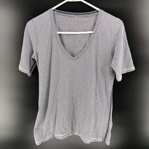 Lululemon Short sleeve tee shirt tunic top striped
